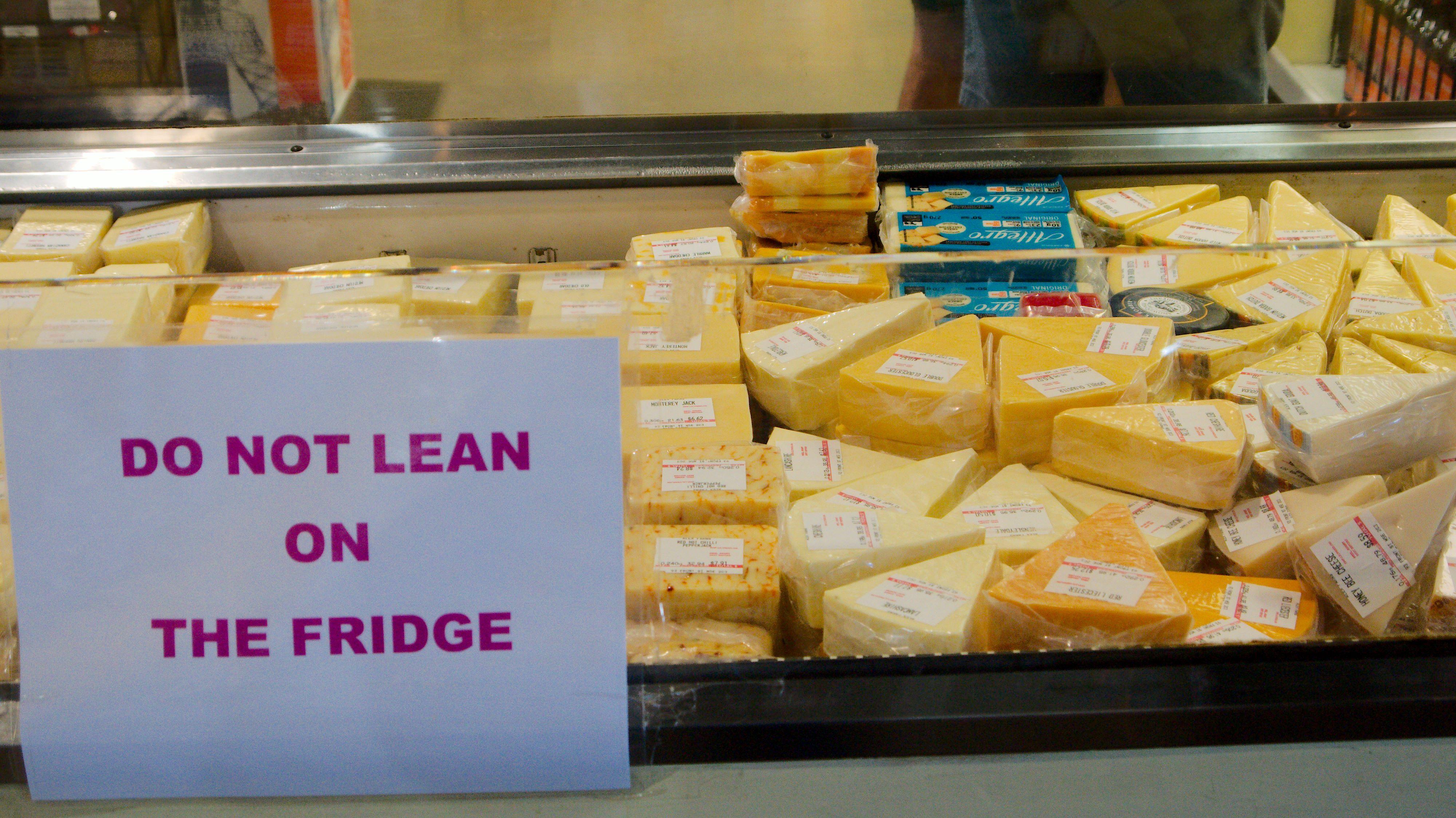 Do Not Lean On The Fridge